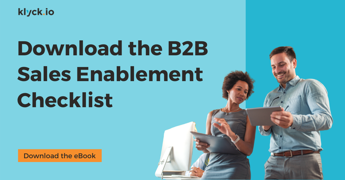 Download the B2B Sales Enablement Checklist