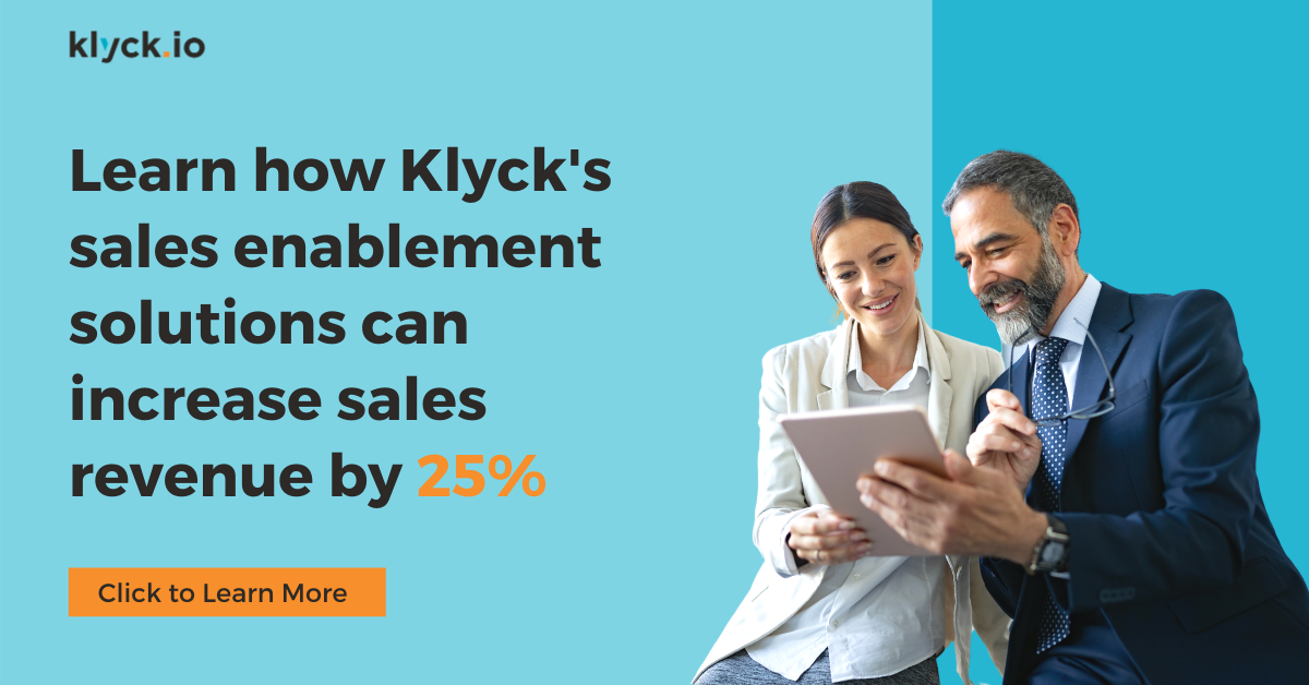 Klyck sales enablement increases revenue by 25%