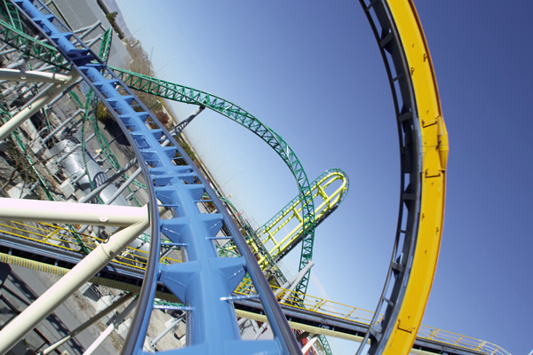 Rollercoaster Zoom Background