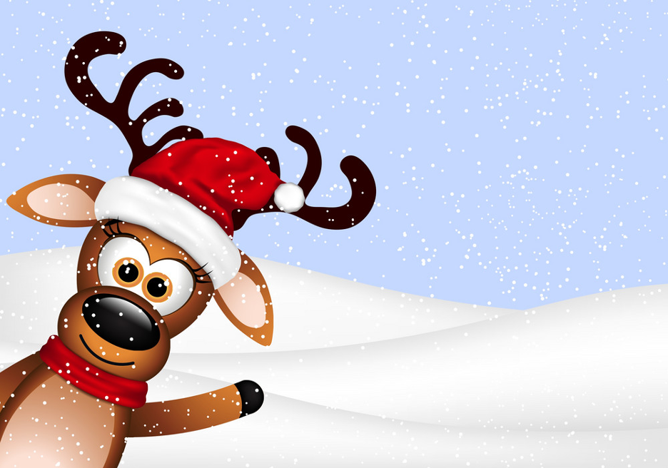 Reindeer Zoom background